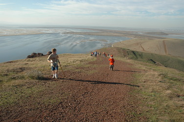 Coyote Hills path to the summit